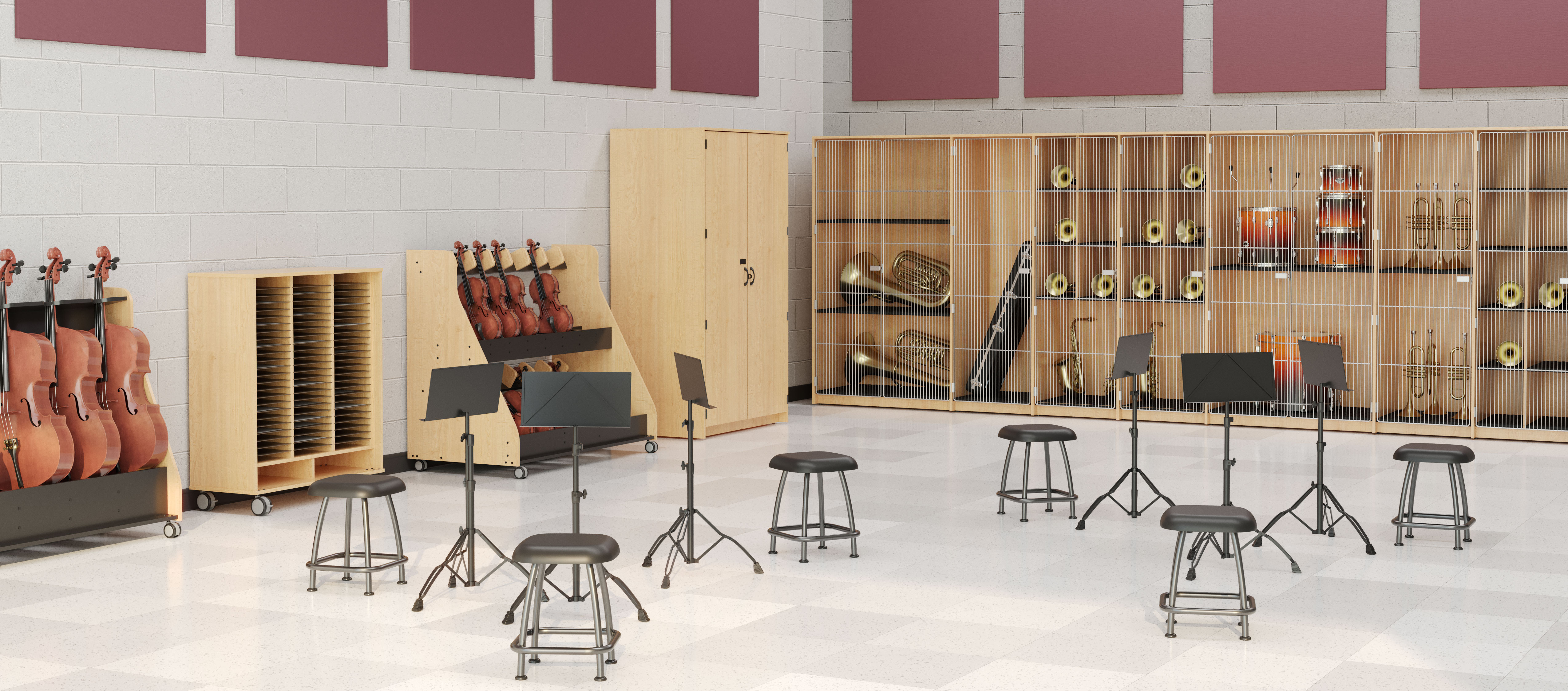 Rendering of harmony music collection