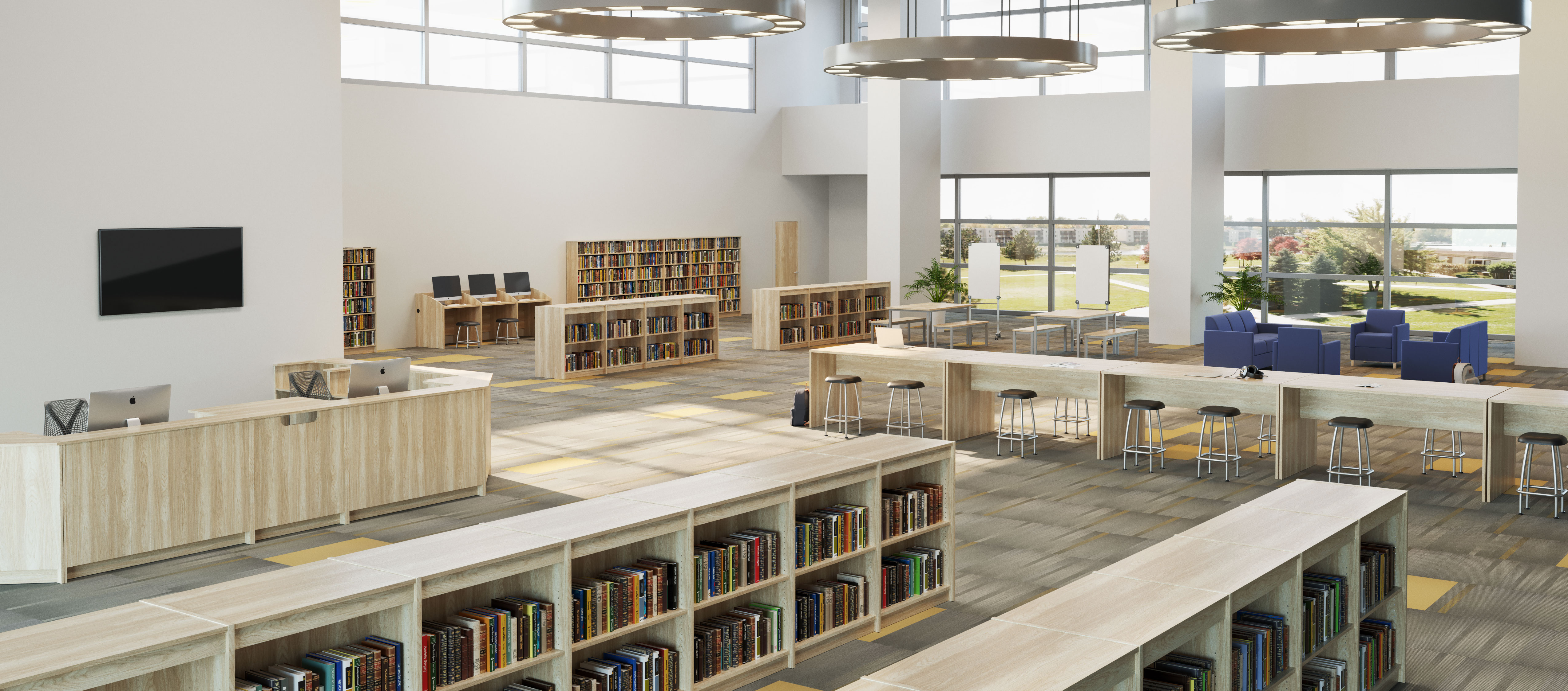 Rendering of the library collection