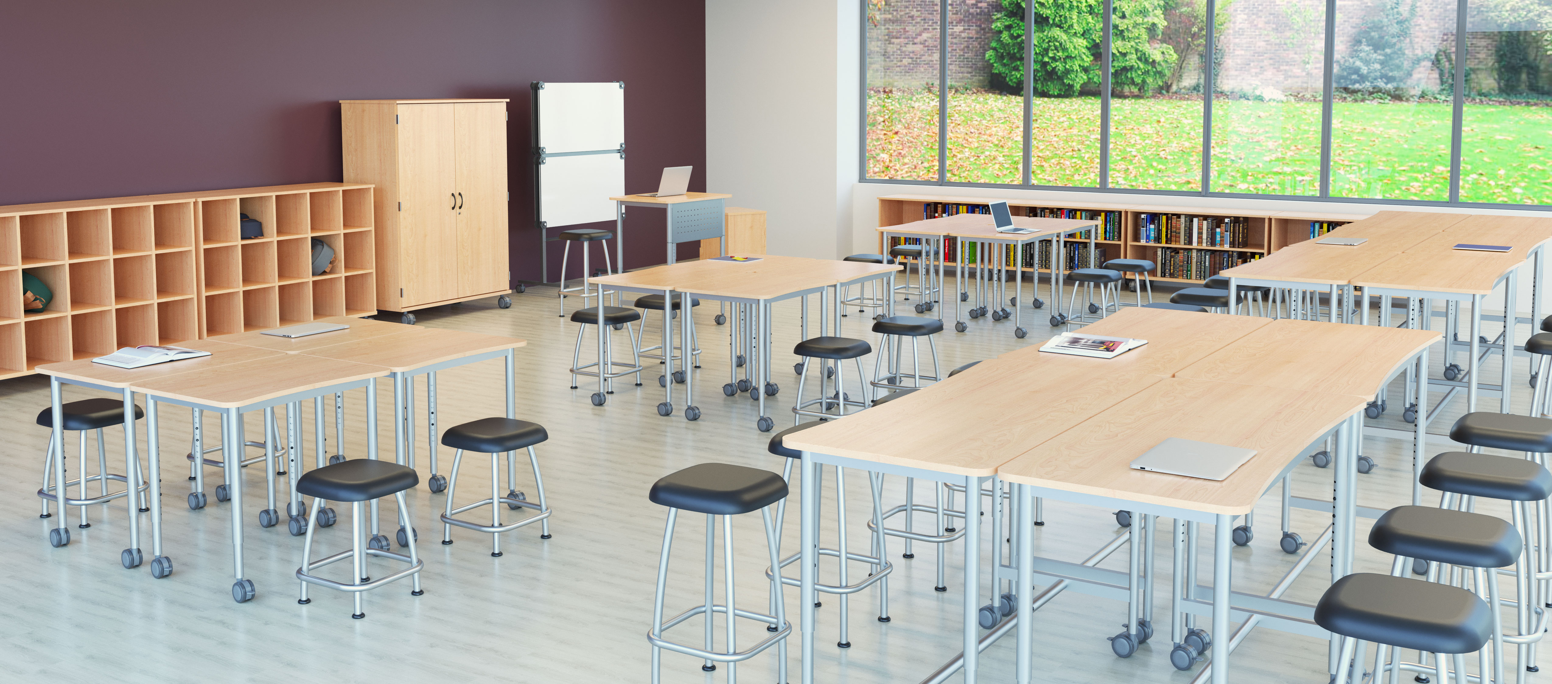 Rendering of the encore collection in the classroom