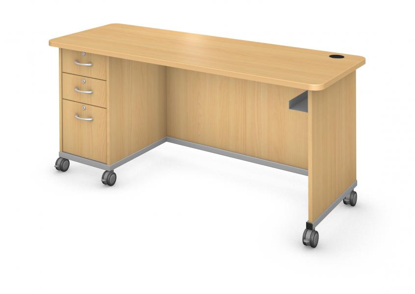 Desk with Left Side Ped