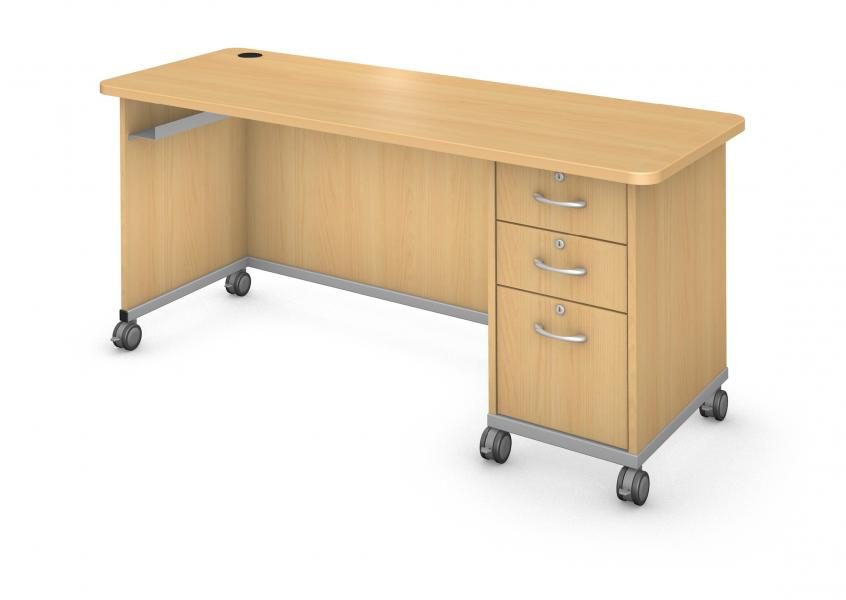 Desk with Right Side Ped