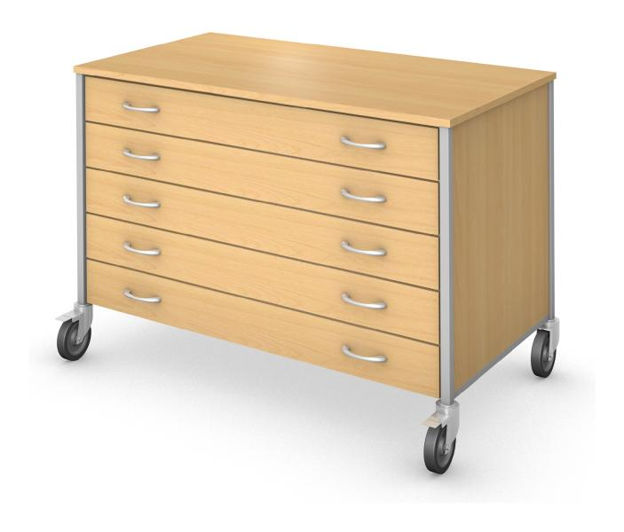 Low Drawer Storage - Non Locking Drawers