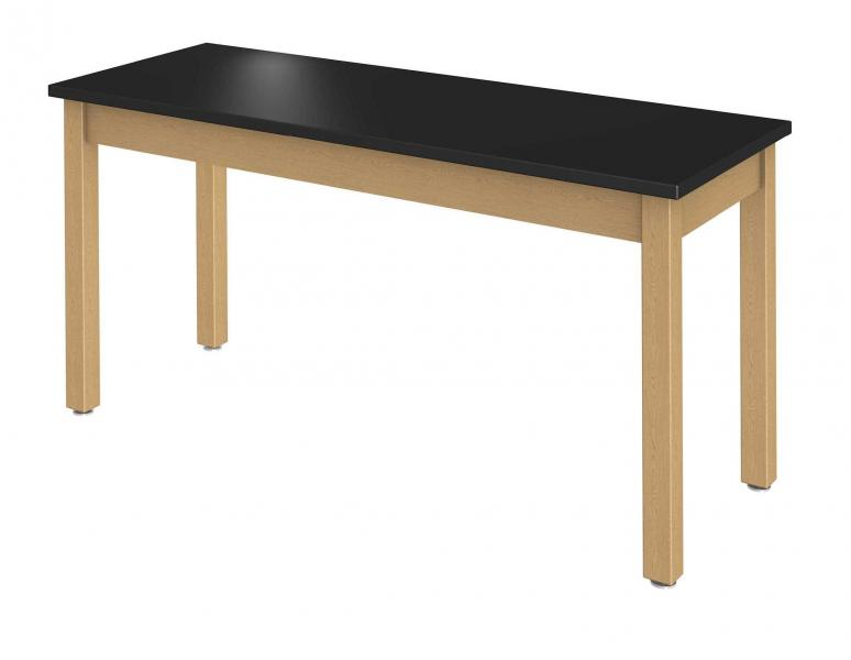 Rectangle Science/Stem Makerspace Table, Wood Square Legs Product Rendering