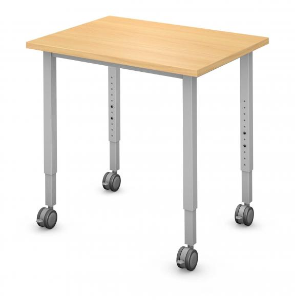 Rectangle Student Desk Product Rendering
