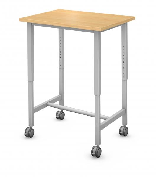Rectangle Tall Student Desk/Teacher Podium Product Rendering