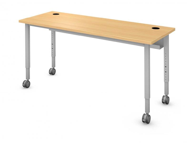 Rectangle Computer Table, Steel Square Legs Product Rendering