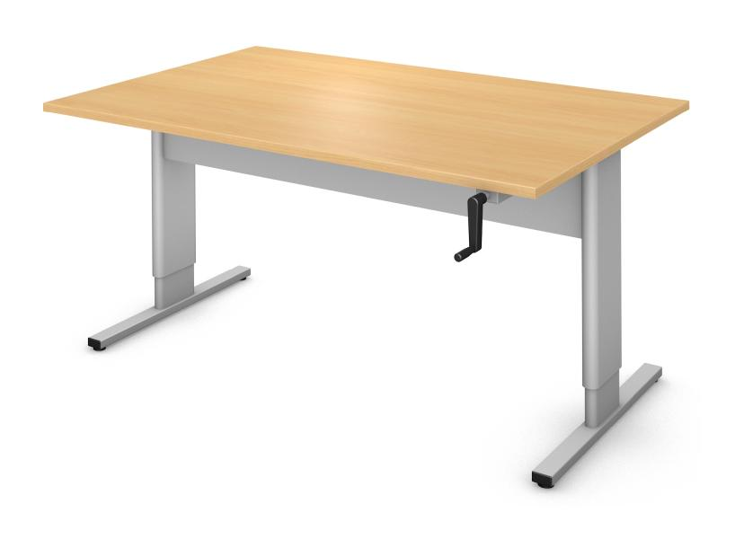 Rectangle Table, User Height Adjustable Rendering
