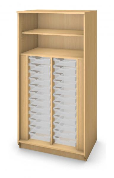 Tall Tray Storage Cabinet No Doors - 24 Trays Product Rendering