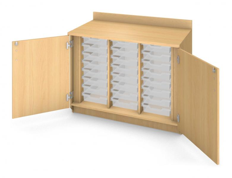 Base Tray Cabinet - Locking Doors Product Rendering
