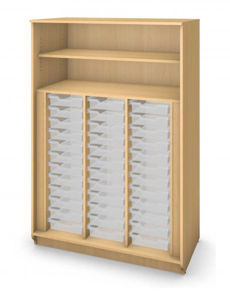 Tall Tray Storage Cabinet No Doors - 36 Trays Product Rendering