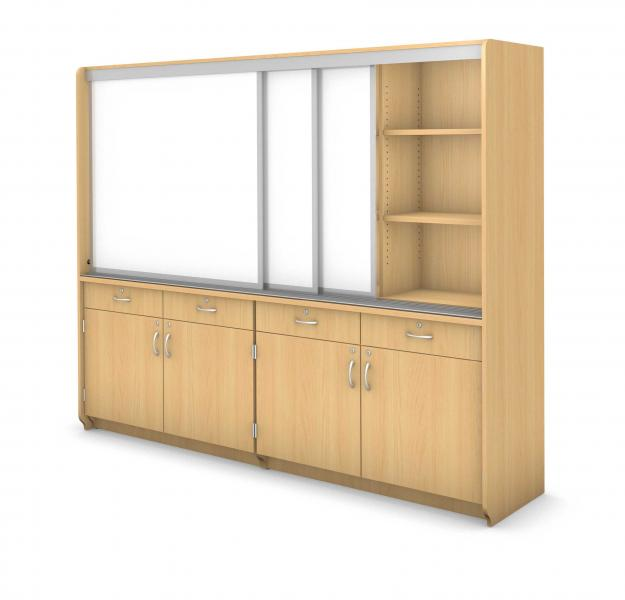 Learning Wall - Locking Drawers & Doors Product Rendering