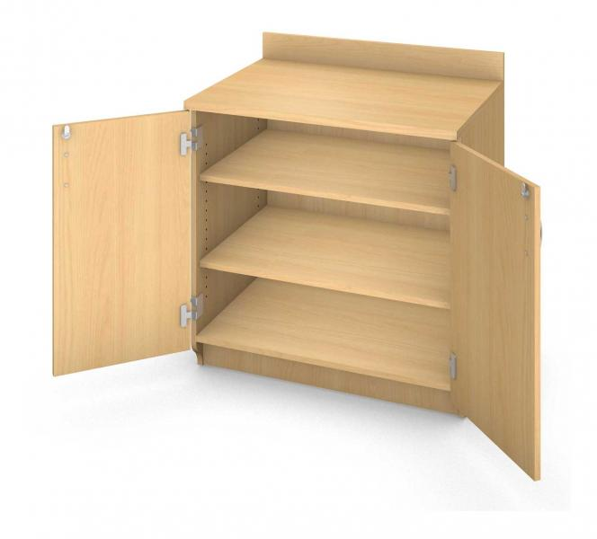 Base Shelf Cabinet - Locking Doors Product Rendering