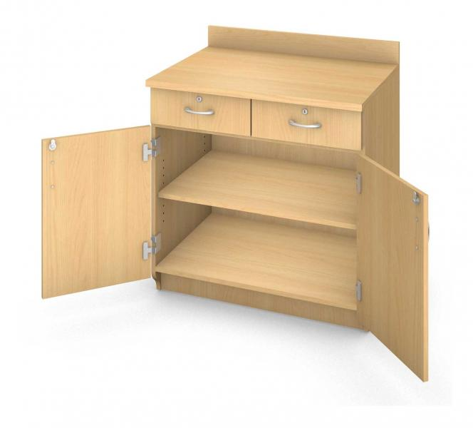 Base Shelf Cabinet - Locking Doors & Drawers Product Rendering