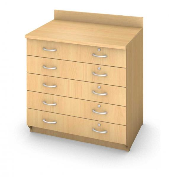 Base Drawer Cabinet - Locking Drawers Product Rendering