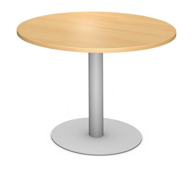 Round Table, Steel Round Pedestal Product Rendering