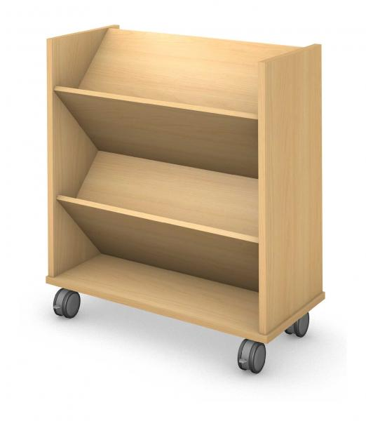 Shelf, Double Sided Mobile, Book Truck Product Rendering