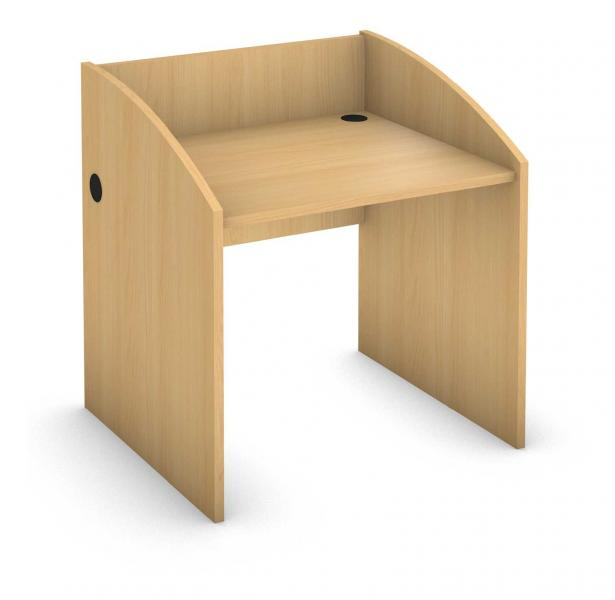 Rectangle Student Desk - Full Low End Legs - Carrel Product Rendering