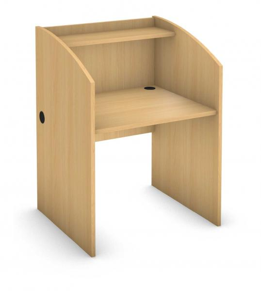 Rectangle Student Desk - Full High End Legs - Carrel Product Rendering