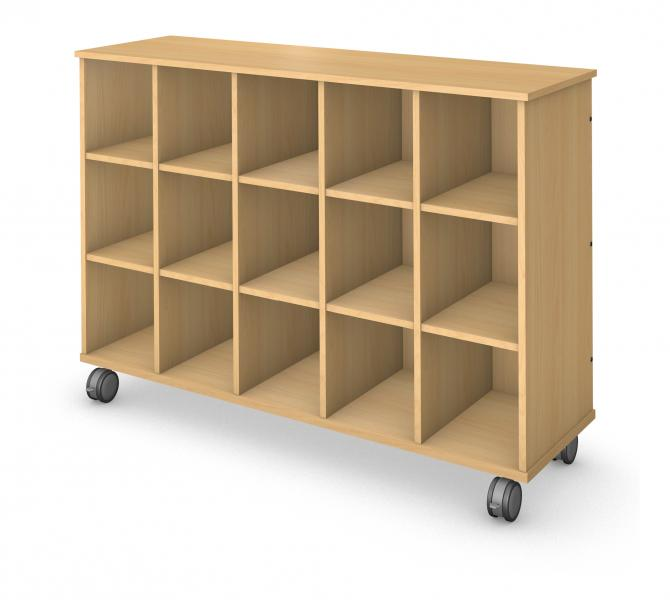 Mid Cubby Storage - No Doors Product Rendering