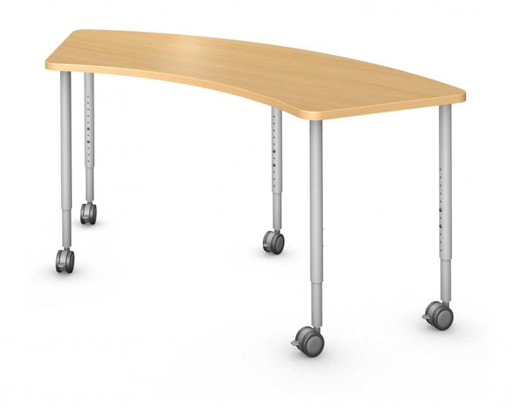 Arc 60° Table, Steel Round Legs Product Rendering