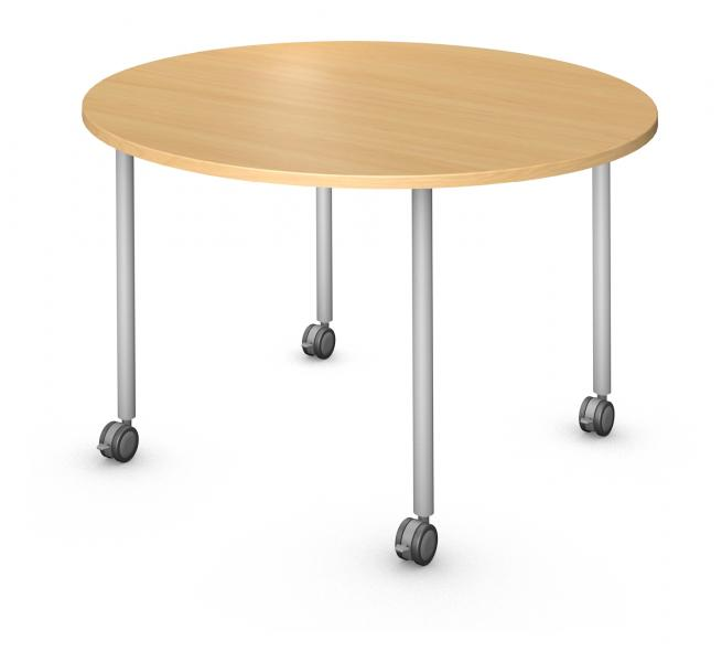 Round Table, Steel Round Legs (4) Product Rendering