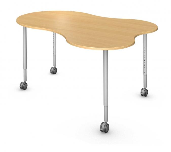 Blend Table, Steel Round Legs Product Rendering