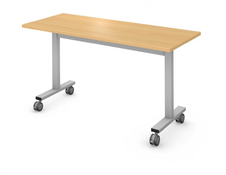 Rectangle Table, Steel Square I-Leg Product Rendering