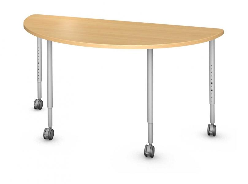 Half Round Table, Steel Round Legs Product Rendering