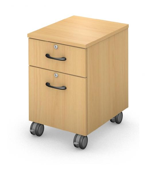 Under Work-Surface, Mobile Ped Box/File - Locking Drawers Product Rendering