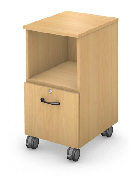 Mobile Ped - Open/File - Locking Drawer Product Rendering