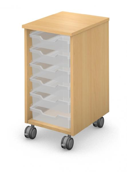 Mobile Ped - Trays - No Door Product Rendering