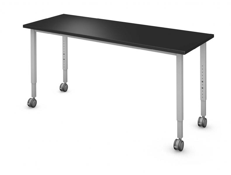 Rectangle Table, Steel Square Legs (4) Rendering