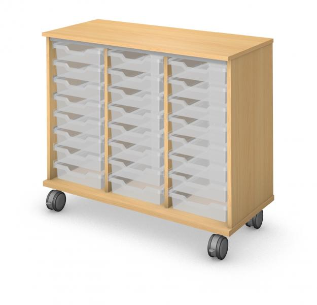 Low Tray Storage - No Doors Product Rendering