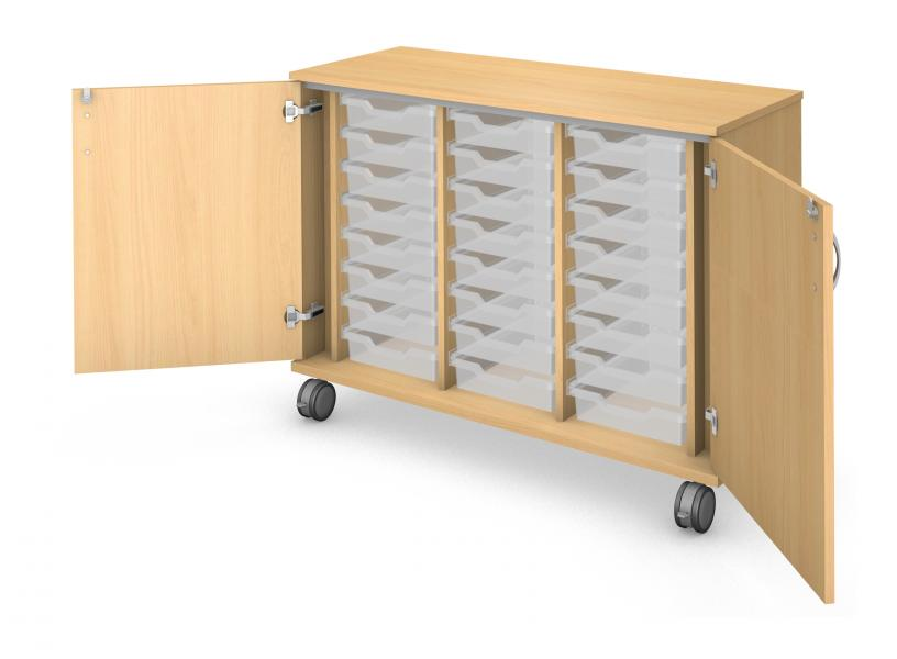 Low Tray Storage - Locking Doors Product Rendering