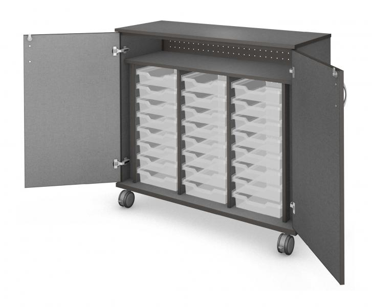 Mid Tray Storage - Locking Doors Product Rendering