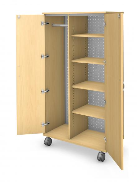 Tall Wardrobe Storage - Locking Doors Product Rendering